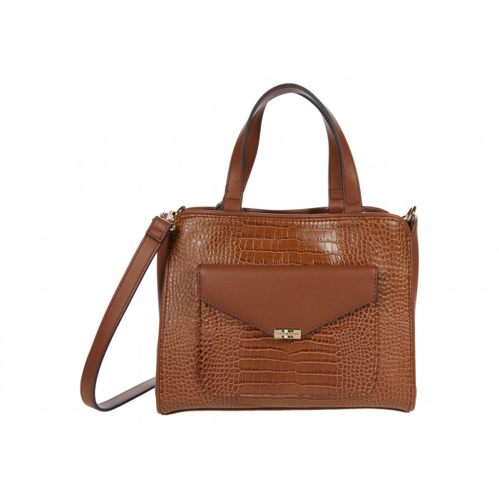 Tommy Hilfiger Tessa Convertible Satchel - Croc Embossed PVC