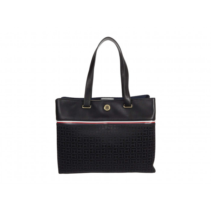 Tommy Hilfiger Brynn International Tote Square Monogram Jacquard