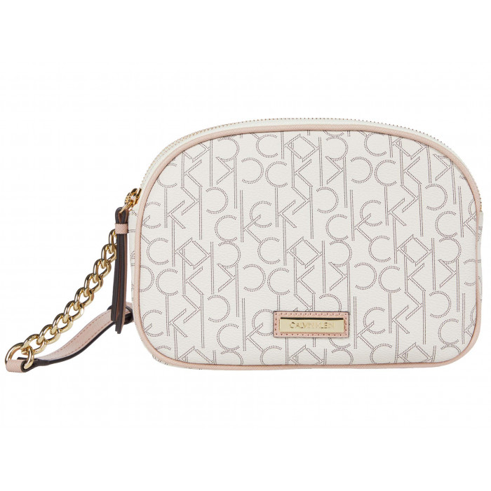 Calvin Klein Double Zip Signature Crossbody