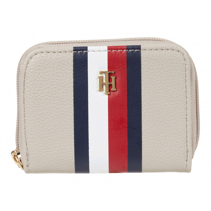 Tommy Hilfiger Signature - Pebble PVC Small Zip Around Wallet