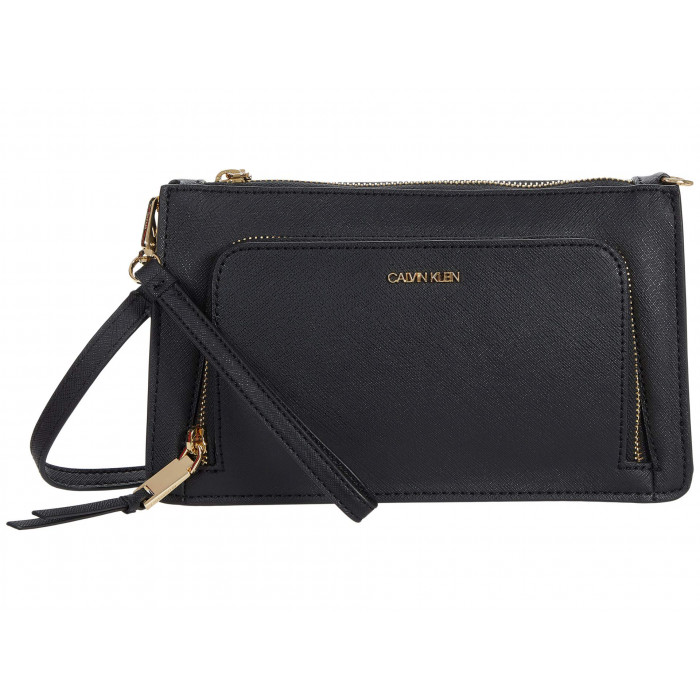 Calvin Klein Ava Saffiano Zip Around Crossbody