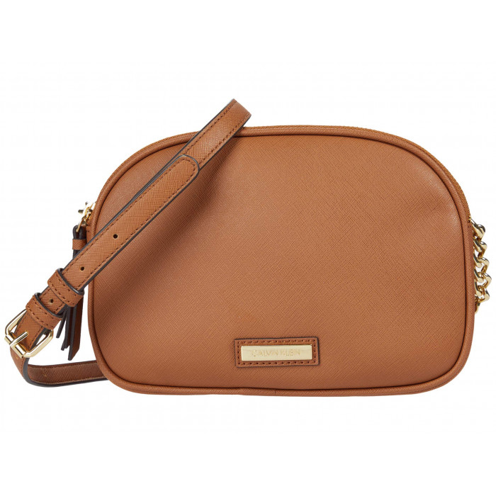 Calvin Klein Double Zip Saffiano Crossbody