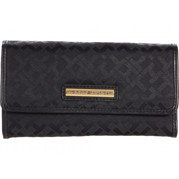 Tommy Hilfiger Dome Bar Geo Jacquard Continental Wallet