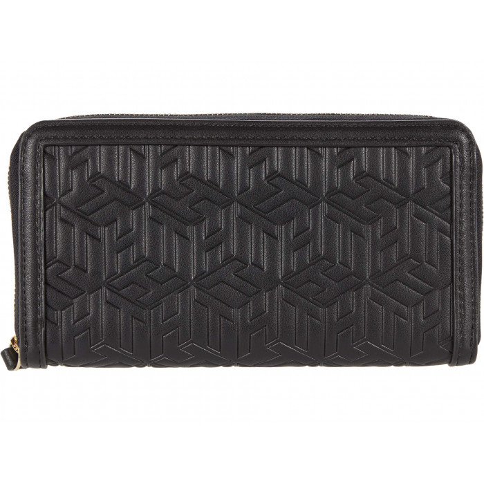 Tommy Hilfiger April Large Zip Wallet - TH Cube Embossed PVC