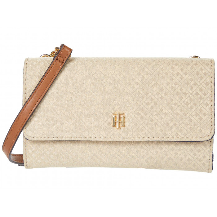 Tommy Hilfiger Wallet on A String Mini Signature Jacquard