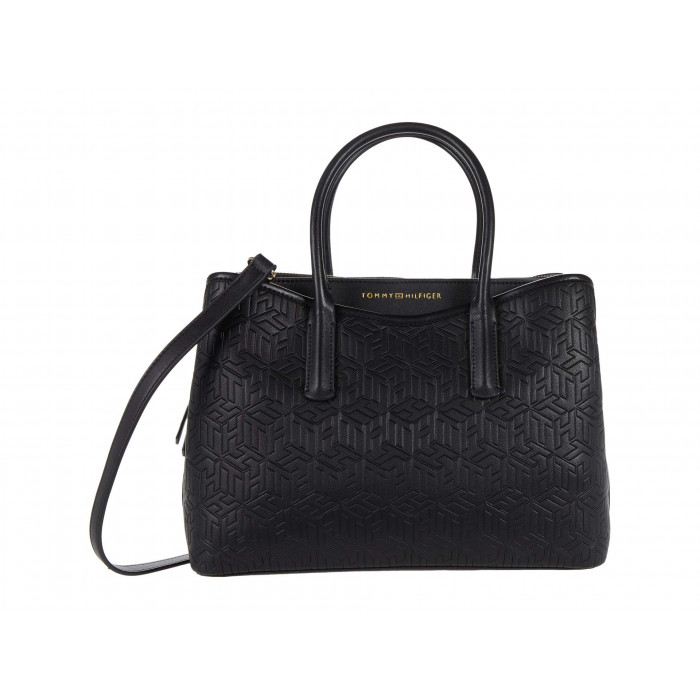 Tommy Hilfiger April Satchel - TH Cube Embossed PVC